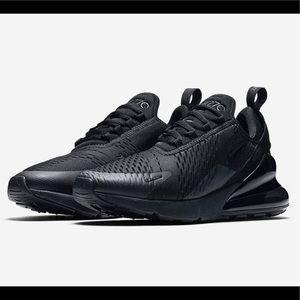 "Nike AirMax 270 ""Triple Black"" - size 10 men's"